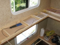 RV Bunkbed to Workshop Remodel