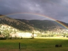Rainbow over Gold Hill at Vickers Ranch