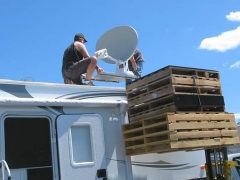 RV Datasat 840 Satellite Internet Dish Installation