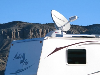 BLM Boondocking with RVDataSat Satellite Internet at Basin and Range Monument