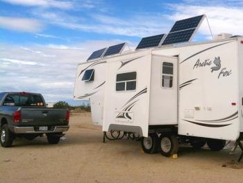 RV Solar Power Arctic Fox Fifth Wheel