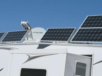 RV Solar Power Satellite Internet