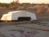 Slab City Sunken Ship Resident Impromptu Shade Shelter