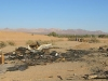 Slab City Burnt Out Trailer Debris