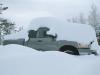 Snow Covered Dodge Ram Truck