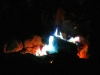 Blue Campfire flames at Elvis Theme Party