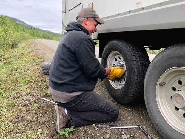 Cassiar Highway Flat Tire