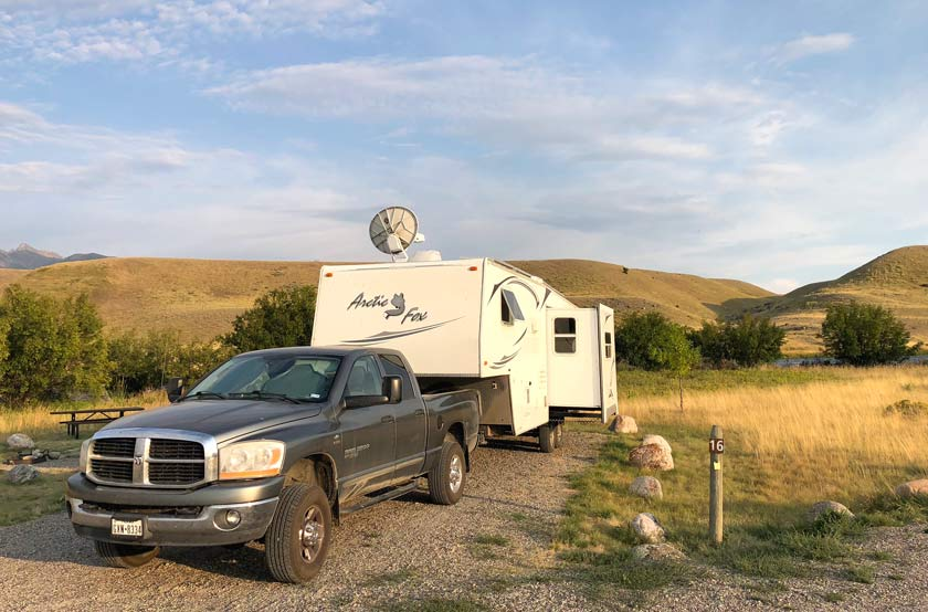 The Madison River Valley, Montana camping
