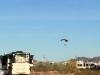 Paraglider over Quartzsite Boondockers