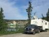 Free boondocking at  Yukon River Dam, near Whitehorse