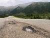 Alcan Highway Potholes at White River, Yukon