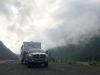 Glacier Fog and rig near Stewart BC and Hyder Alaska