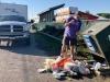 Cleaning Up Trash at Burns Lake Free Dump Station