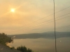 Smoky Sun, Highway 16 British Columbia Fires