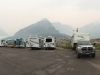 Athabasca Glacier Icefields Visitor Centre Parking Lot Boondocking