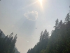 Fire Fighter Helicopter, Smoke on BC Highway 95