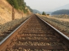 Railroad tracks along Noxon River near Finlay Flats, Montana