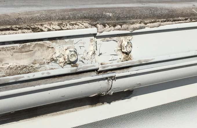 RV weatherstripping repair