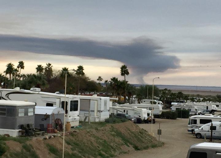 Salton Sea Fire