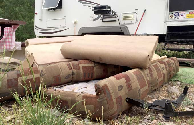 RV Sofa Disposal