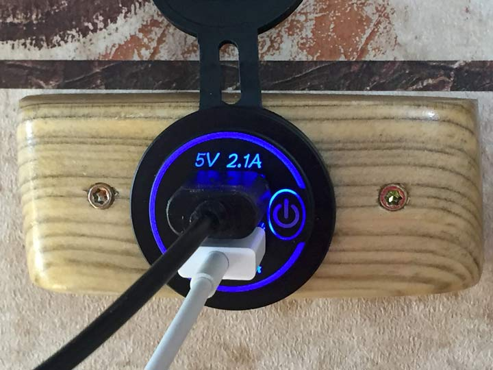 RV Wall USB Outlet