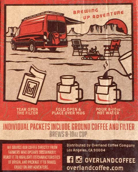Overland Coffee Packaging