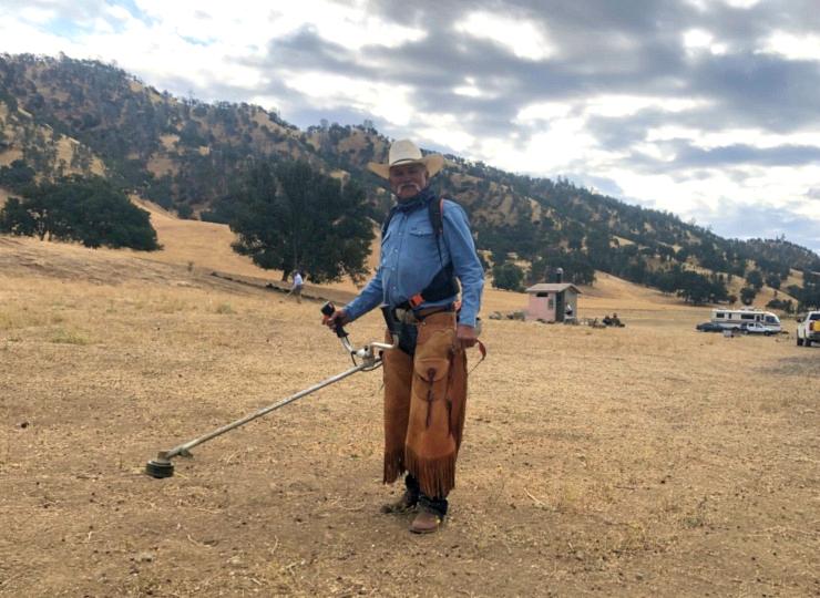 Cowboy Volunteer on Public Lands Day