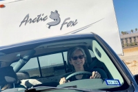 Rene drives fifth wheel