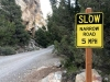 Great Basin National Park Slow Winding Road Sign