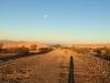Coachella Canal Morning Run Moonset