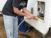 Jim cleans out RV water heater and replaces annode.