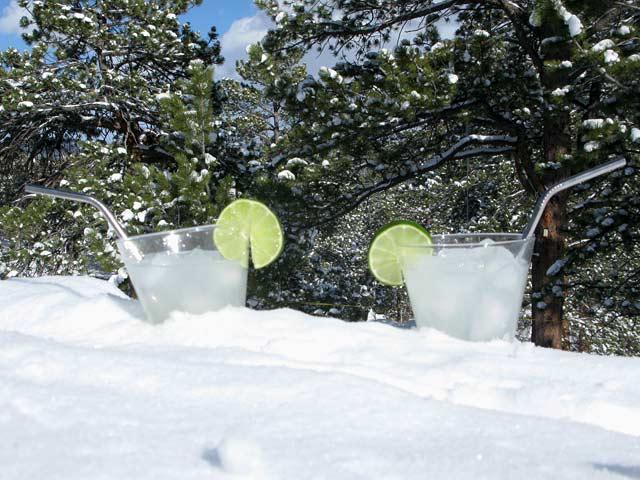 snowy margaritas