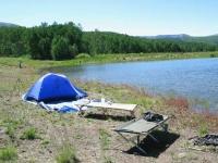 Camping at Joe Bob Lake