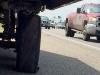 Fifth Wheel Trailer Tire Blowout Roadside Flat Repair