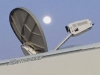 Moonrise over RVDataSat Satellite Internet Dish Boondocking at Lake Amistad