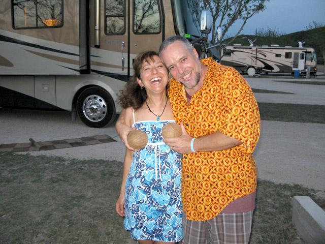 Happy Couple at NuRVers Ralley Luau Night
