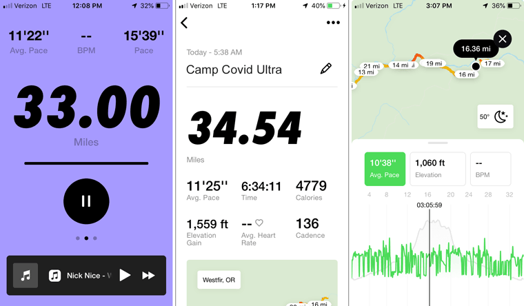 ultra run results