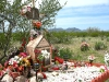Elaborate Roadside Memorial Shrine Near Why, AZ