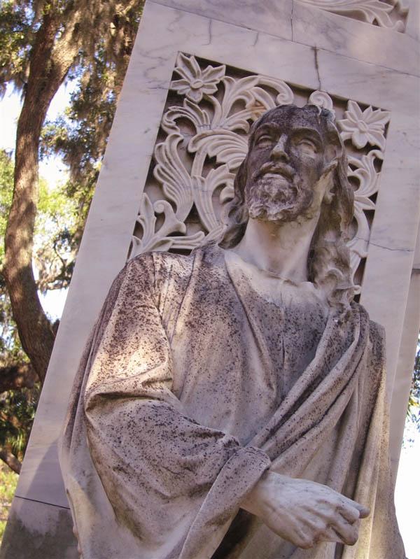 Jesus Memorial at Bonaventure Cemetery Savannah Georgia