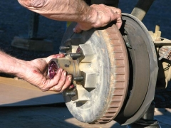 Titan Trailer Disc Brakes Installation, removing drum brakes