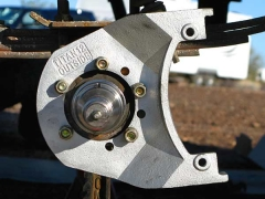 Titan Trailer Disc Brakes Installation, attach new backing plate