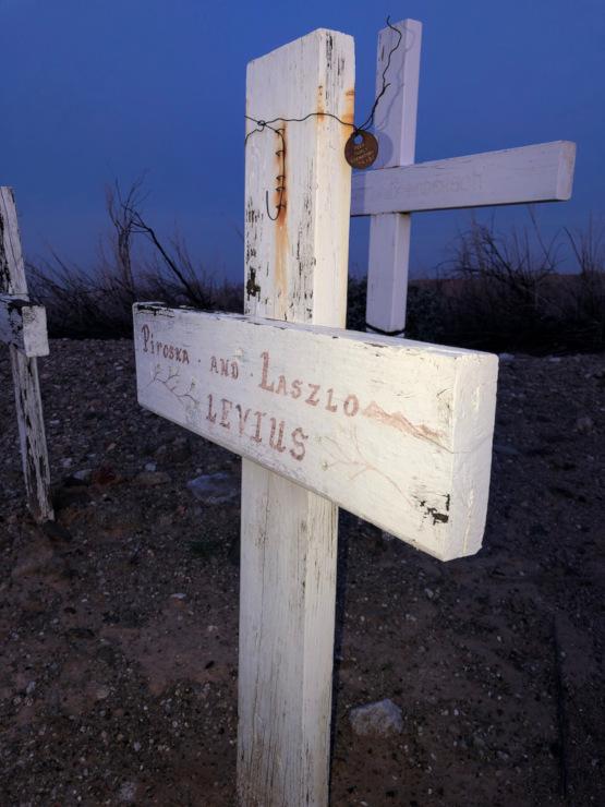 Frink CA roadside graves