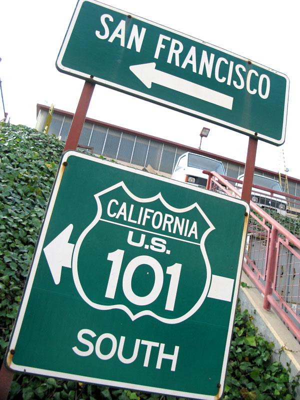 California HWY 101 South at golden Gate Bridge, San Francisco