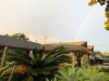 Rainbow over Los Angeles Suburb