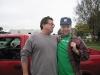 Jim models his trucker cap for Joel