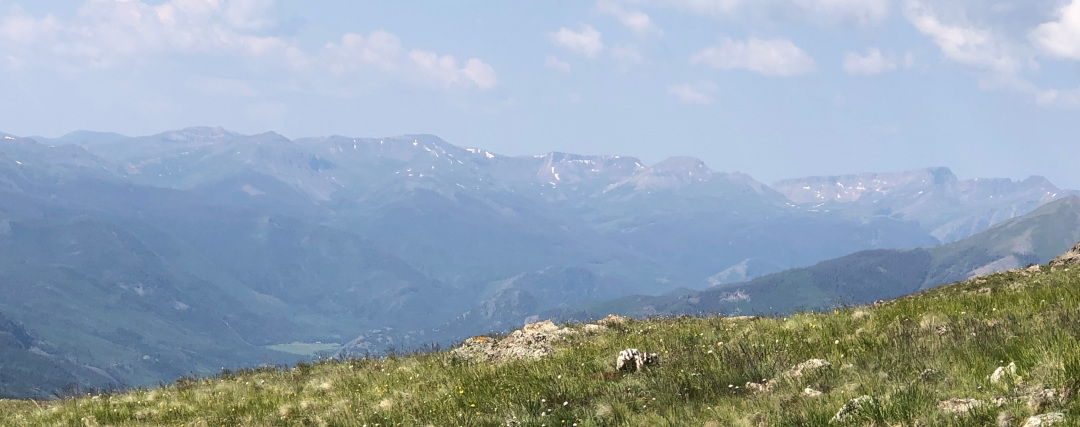 San Juan Mountains trail running panorama