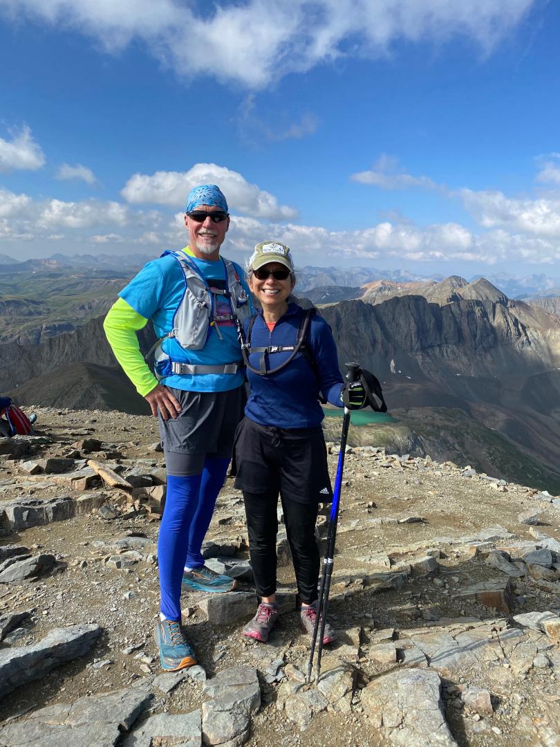 Rene Agredano Jim Nelson hiking 14er Handies Peak