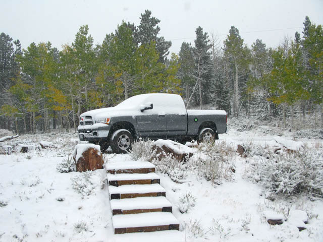 Snowy Truck at Home