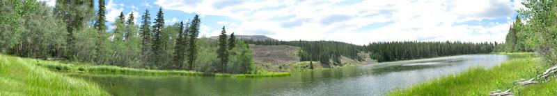 Waterdog Lake panorama Vickers Ranch, Lake City Colorado