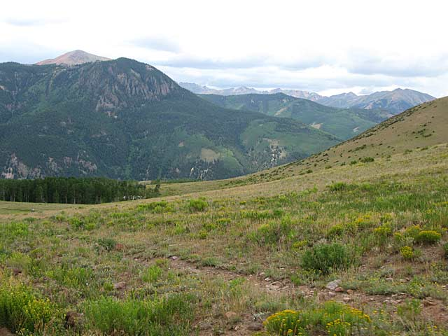 Upper Vickers Ranch View of Cinnamon Pass